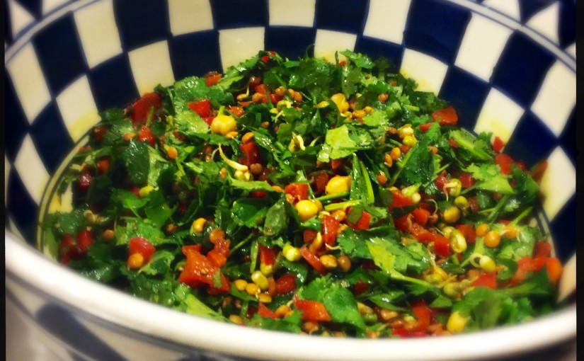 Detox Salat mit Linsensprossen