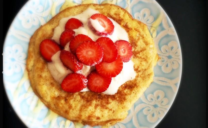 Blitz Pancakes aus 2 Zutaten für eilige Morgenmuffel