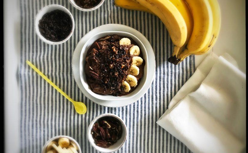 Eine Portion Glück und Gesundheit zum Frühstück: Bananen Schokoladeneis ohne  …