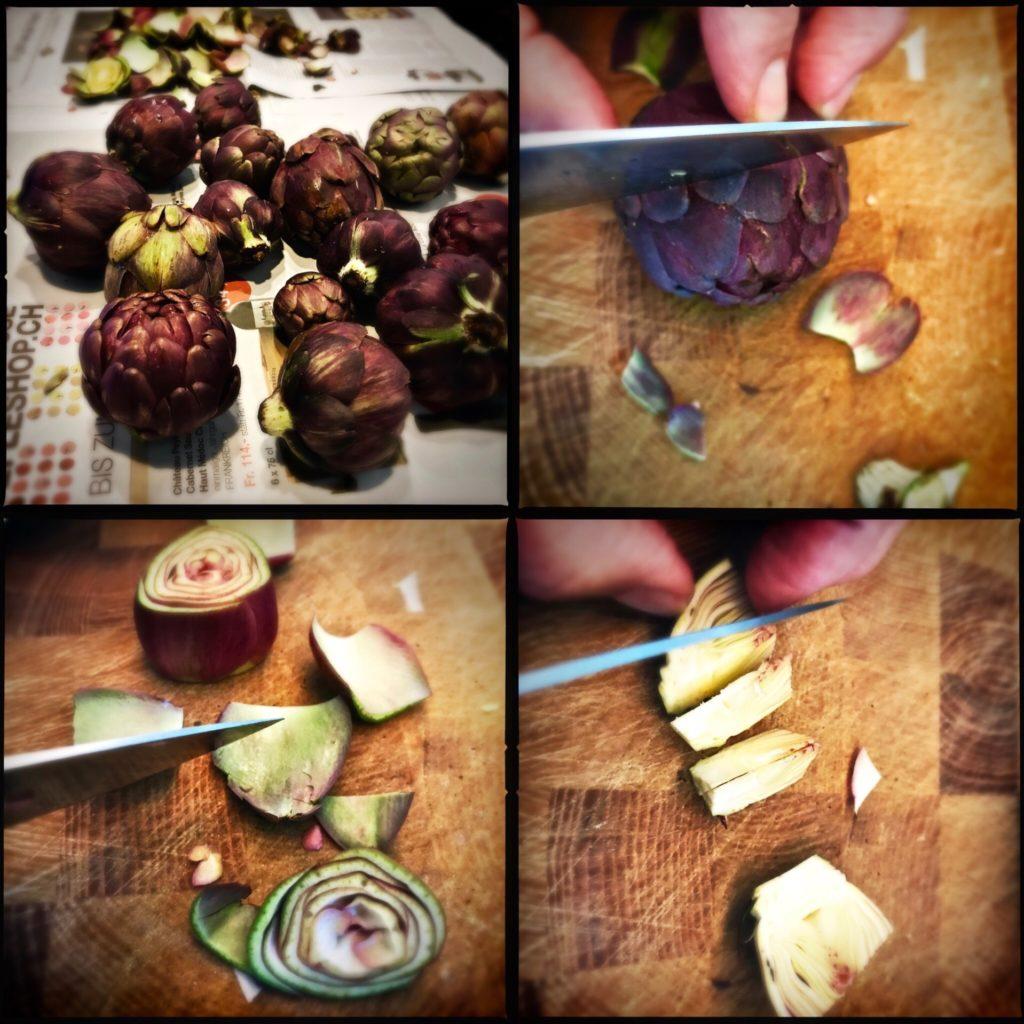 Fantastischer Salat aus rohen, jungen Artischocken mit Olivenöl und Parmesan http://galupasvoice.com/artischockensalat/