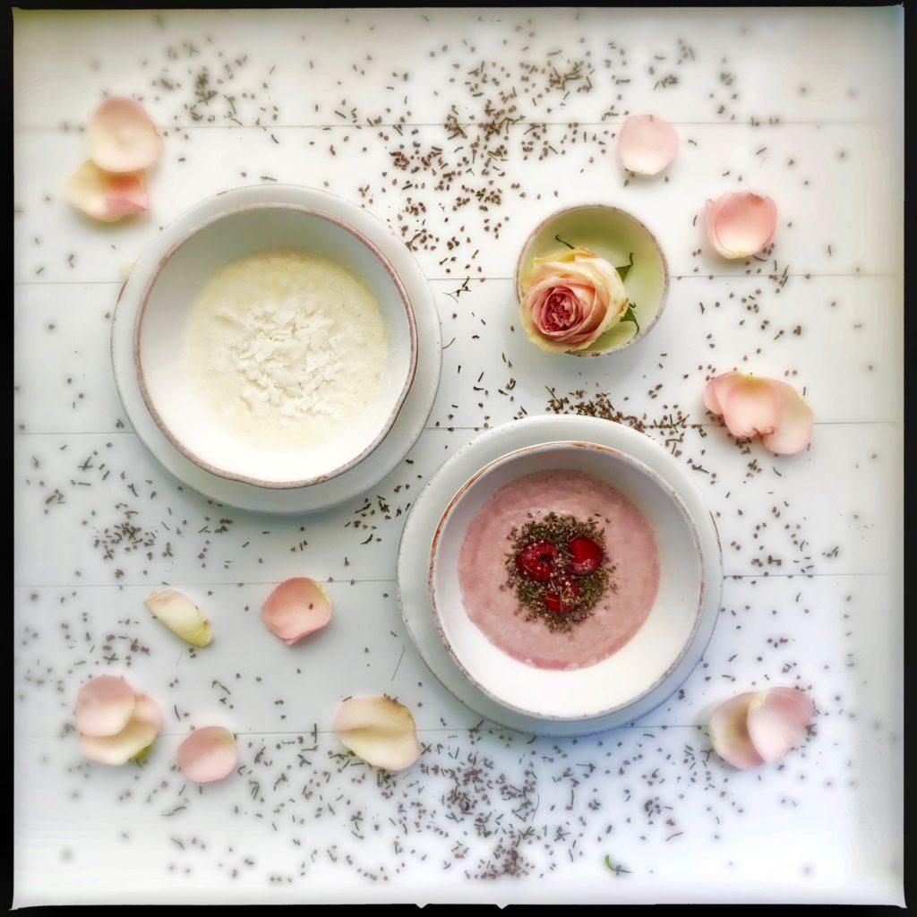 Prinzessinnen Frühstück à la Schneeweisschen und Rosenrot aus Hirse und Kokosmilch http://galupasvoice.com/prinzessinnen-fruehstueck/